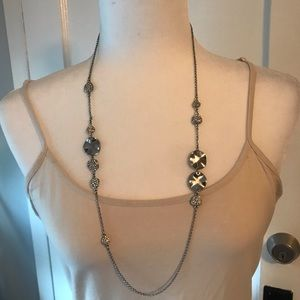 Ann Taylor silver tone necklace